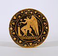 Ascoli Satriano Painter - Red-Figure Plate with Eros - Walters 482765.jpg