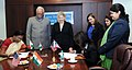 Ashok Gajapathi Raju Pusapati and the Director, US Trade Development Agency, Ms. L.I. Zak witnessing the signing of Grant Agreement for India Aviation Safety Technical Assistance Phase II between the Directorate General of.jpg
