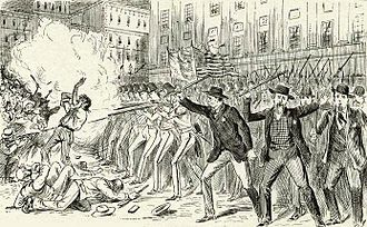 History of the New York City Police Department - One of the first major tests of the effectiveness of the newly formed New York City Metropolitan Police in 1845 was the Astor Place Riot of 1849. Note: The city policemen wore a badge but were not required to wear full regulation uniforms until 1854.