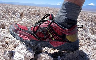 4 Deserts - The uneven Atacama salt flats.
