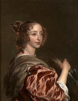 Attributed to Van Dyck - Queen Henrietta Maria as St Catherine.jpg