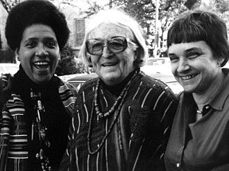 Adrienne Rich - Rich (right), with writers Audre Lorde (left) and Meridel Le Sueur (middle) in Austin, Texas, 1980