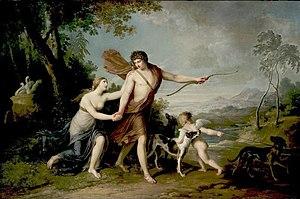 Augustin van den Berghe - Venus and Adonis
