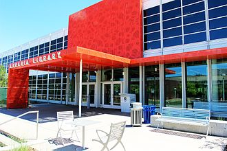 Auraria Library - The Lawrence Street entrance to Auraria Library