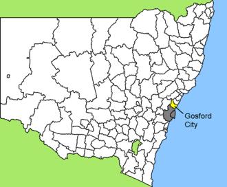 Gosford - Image: Australia Map NSW LGA Gosford