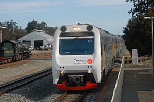 Transwa - Australind at Pinjarra in February 2010