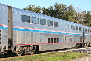 Passenger car (rail) - Amtrak Superliner double-deck lounge car