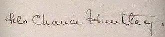 Florence Huntley - Image: Autograph of Flo Chance Huntley