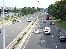 L'autoroute traversant Reims