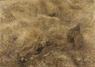 Autumn Landscape with Partridges