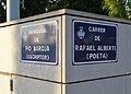 Avinguda de Pío Baroja - Carrer de Rafael Alberti de València, plaques.JPG