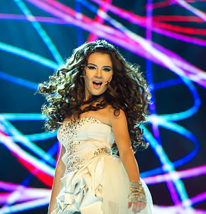 Aysel Teymurzadeh, Eurovision Song Contest 2012, semi-final allocation draw.jpg
