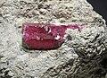 Béryl rouge sur gangue de rhyolite (Wah-Wah Mountains Utah - USA) 2.jpg