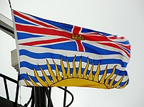 Flag of British Columbia, flown on board the B...