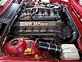 BMW E24 M6 US Engine bay Exhaust.JPG