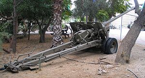 100 mm field gun M1944 (BS-3) - BS-3 at the Israel Defense Forces History Museum