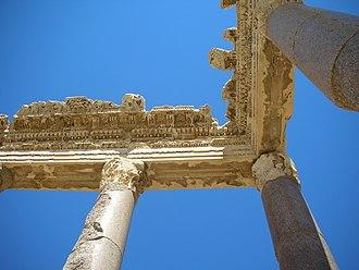 Baalbek - Corinthian capitals in Baalbek