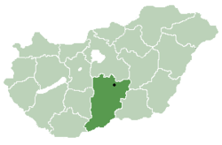 Location of Bács-Kiskun county in Hungary