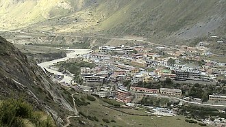 Badrinath - Badrinath Valley, along the Alaknanda River