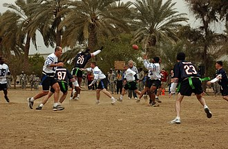 "Super Bowl XLI - ""The Baghdad Bowl"" flag football game played in Iraq."