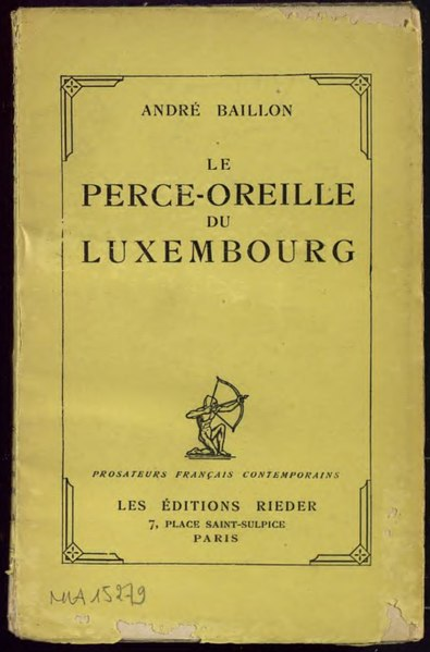 File:Baillon - Le Perce-oreille du Luxembourg, 1928.djvu