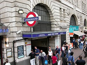 Baker Street tube station - Station entrance