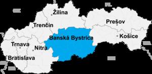 Банскобистрицкий край на карте