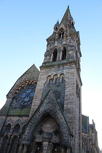 Barclay Viewforth Church - Barclay Bruntsfield Church spire, Edinburgh
