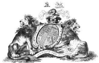 Baron Howard de Walden - Coat of Arms of John Griffin Griffin, 4th Baron Howard de Walden (1719-1797), Catton's English Peerage, 1790. Quarterly of 8: 1:Griffin; 2:Thomas of Brotherton (Royal arms); 3:Latimer; 4:De la Warr; 5:Howard; 6:Warenne; 7:Mowbray; 8:Audley of Walden