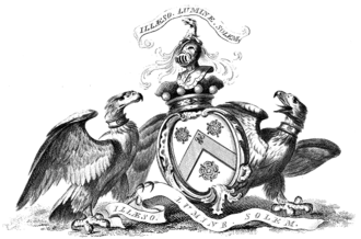 Alexander Wedderburn, 1st Earl of Rosslyn - Arms of Alexander Wedderburn (as Baron Loughborough).