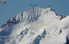 Barre des Écrins - North face - Routes.jpg
