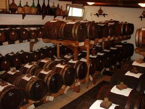 Balsamic vinegar - Barrels of balsamic vinegar aging