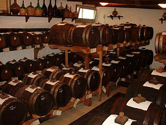 Balsamic vinegar - Barrels of balsamic vinegar aging