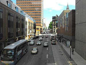 Barrington Street - View southward on Barrington Street