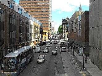 Barrington Street - View southward on Barrington Street