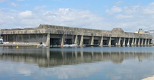 U-boat - U-boat pens in Saint-Nazaire, France