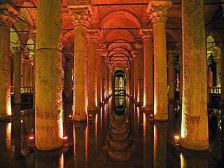 Basilica Cistern ancient cistern beneath Istanbul, Turkey