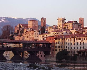 Oberto (opera) - The town and citadel of Bassano where the opera is set