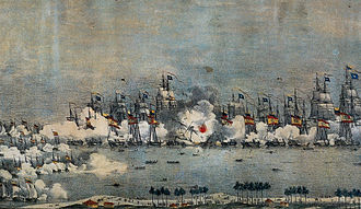 History of Venezuela - Battle of Lake Maracaibo in 1823 resulted in the final expulsion of the Spanish from Gran Colombia