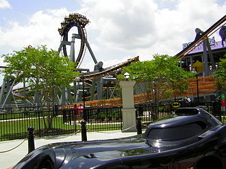 DC Comics Super Hero Adventures - Image: Batman The Ride at Six Flags New Orleans