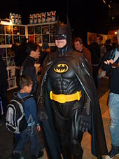 Cosplay de Batman (photographie en couleur).