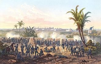 Siege of Veracruz - Scott's siege guns were in place on ground outside the city