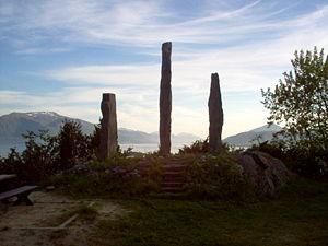 Obelisk memorial for Egil Ullserk and the peop...