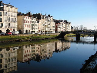 Nive river in France