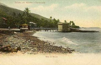 Macuto, Vargas - Macuto beach in 1911
