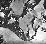 Bear Lake Glacier, upper mountain glacier and unnamed glacier, August 27, 1963 (GLACIERS 6972).jpg