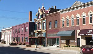 National Register of Historic Places listings in Gage County, Nebraska - Image: Beatrice Nebraska 100s block N. 5th W side from Ella 1