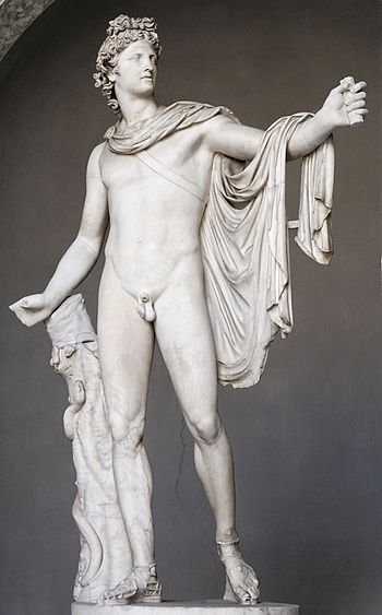 Belvedere Apollo. Marble, Roman copy of 130–14...