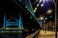 Ben Franklin Bridge Race St pier.jpg