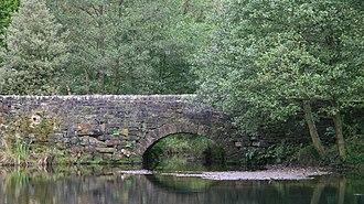 Bentley Brook - Bridge carrying Oaksedge Lane over Bentley Brook as it enters the reservoir